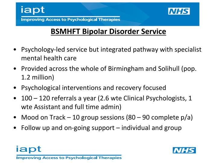 BSMHFT Bipolar Disorder Service