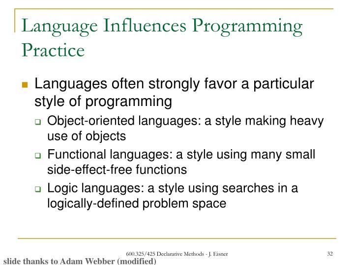 classification of programming languages pdf