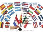 spanish speaking contries
