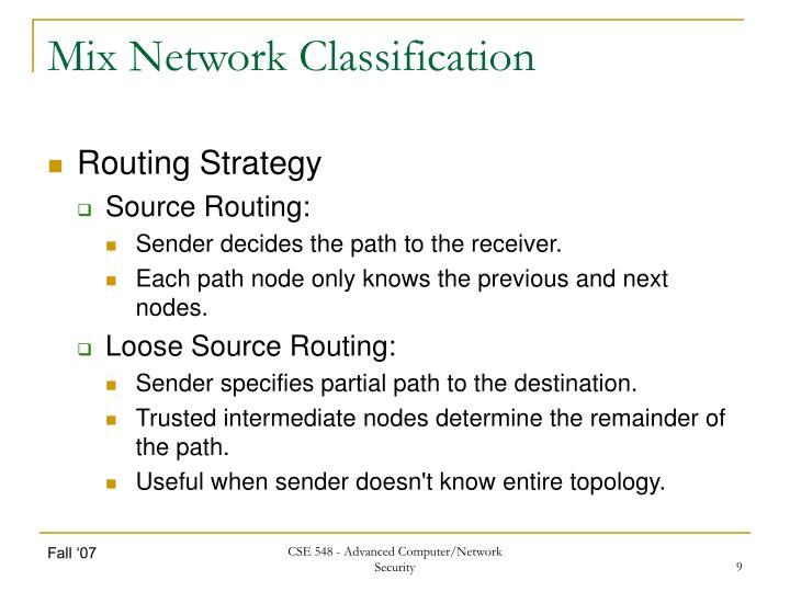 Mix Network Classification