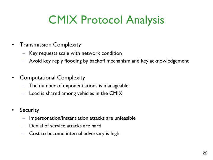 CMIX Protocol Analysis