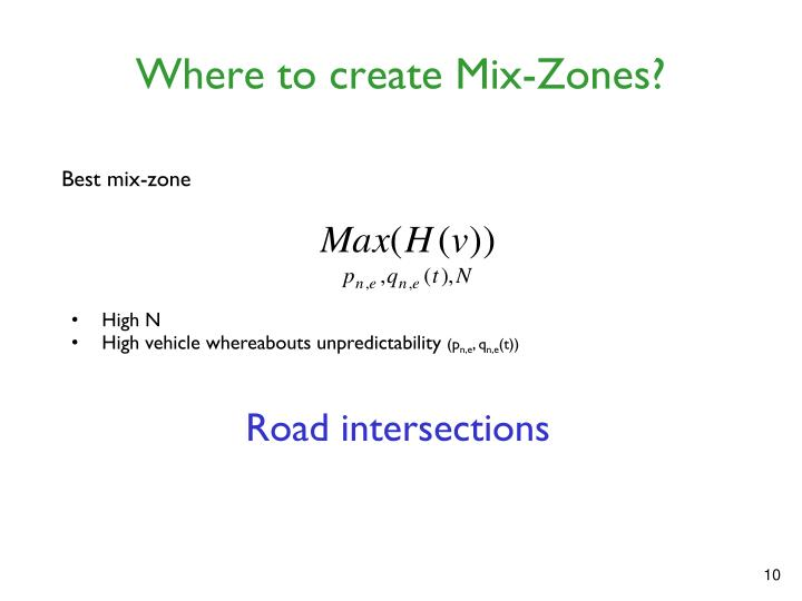 Where to create Mix-Zones?