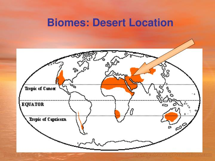 Biomes: Desert Location