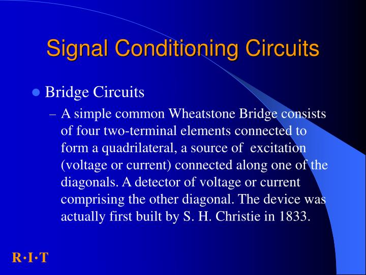 Signal conditioning circuits