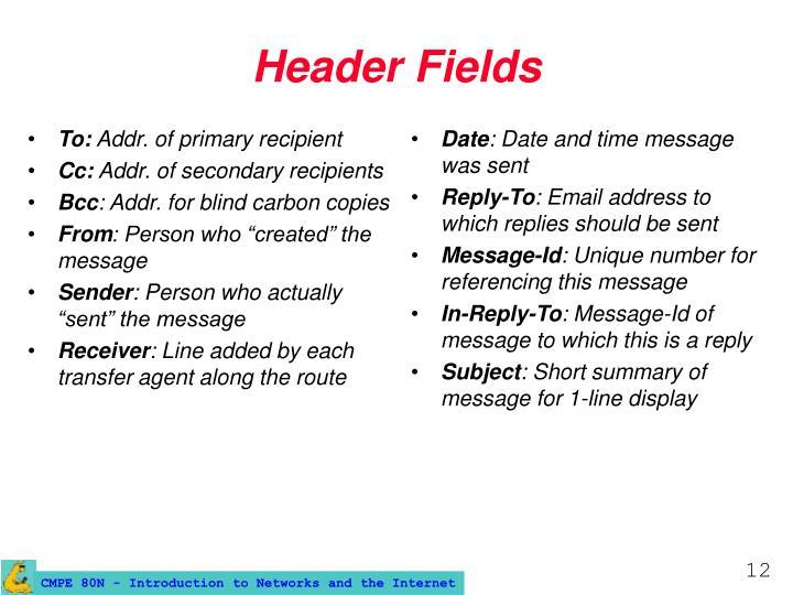 Header Fields