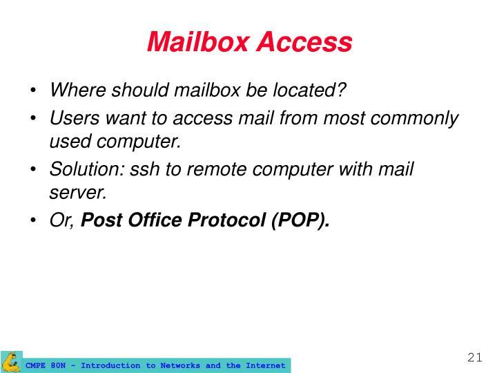 Mailbox Access