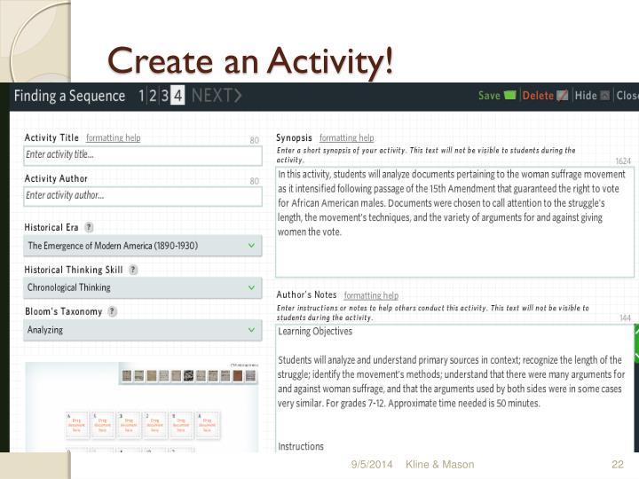 Create an Activity!