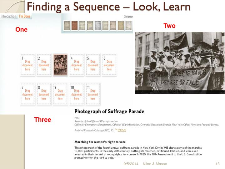 Finding a Sequence – Look, Learn