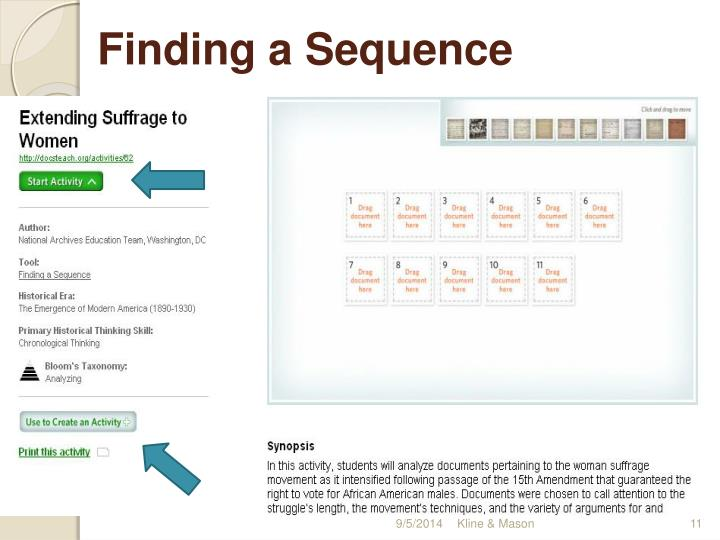 Finding a Sequence