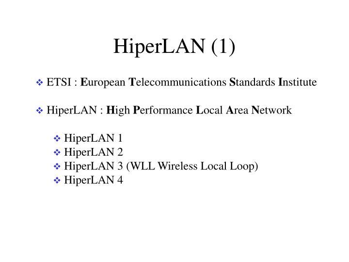 HiperLAN (1)