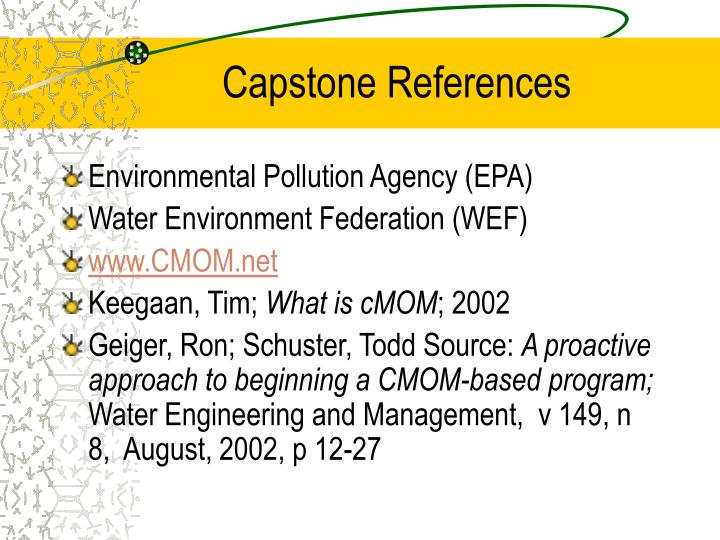 Capstone References