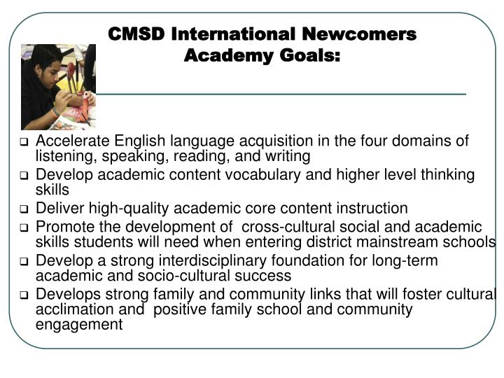 CMSD International Newcomers