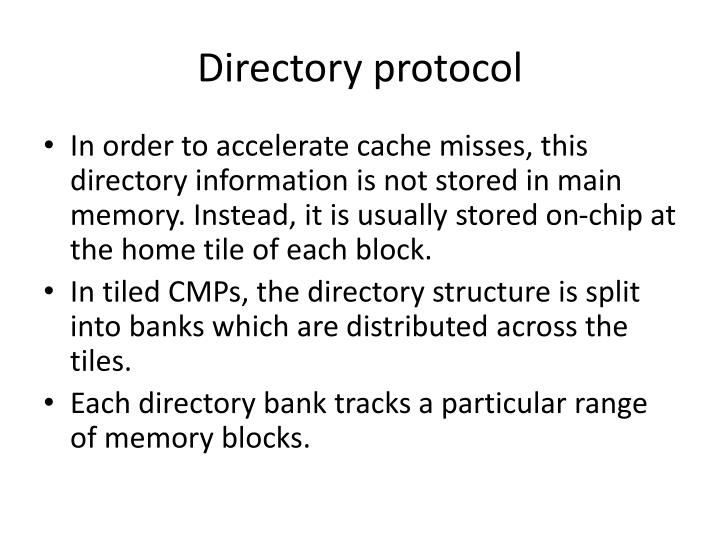 Directory protocol