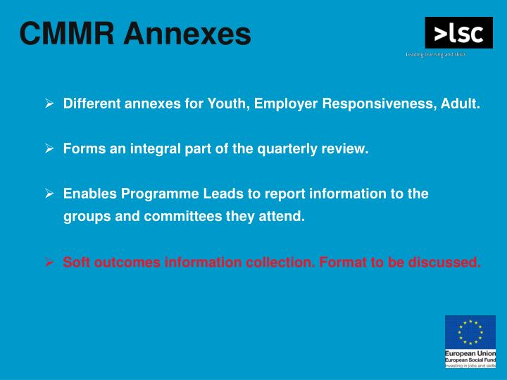 CMMR Annexes