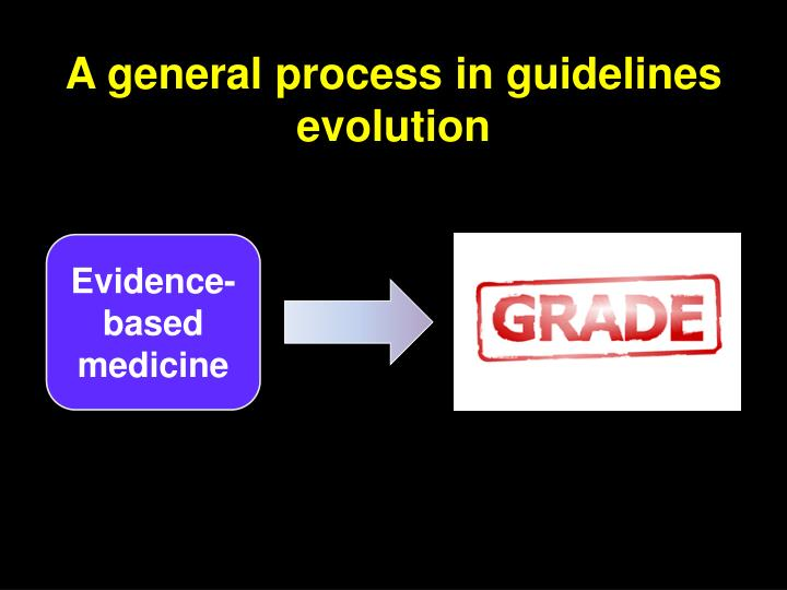 A general process in guidelines evolution