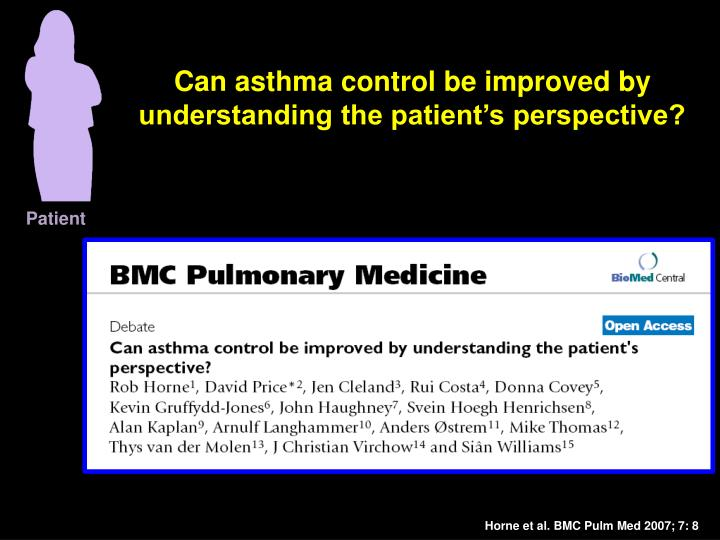 Can asthma control be improved by understanding the patient's perspective?
