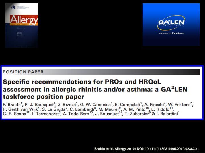 Braido et al. Allergy 2010: DOI: 10.1111/j.1398-9995.2010.02383.x.