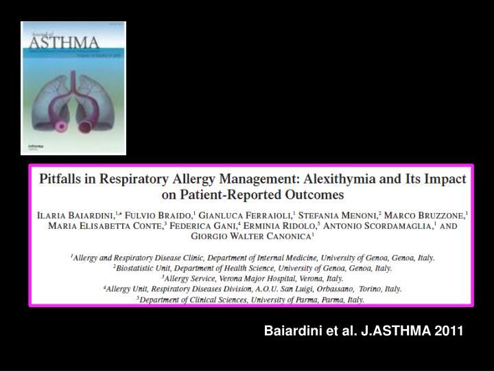 Baiardini et al. J.ASTHMA 2011
