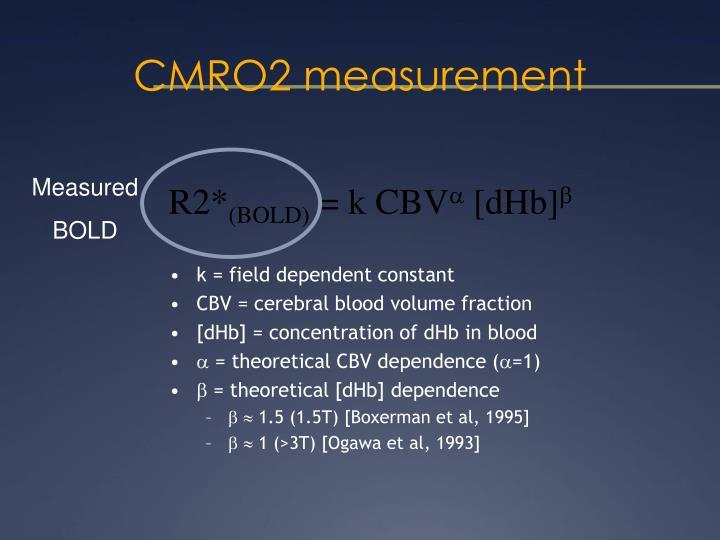 CMRO2 measurement