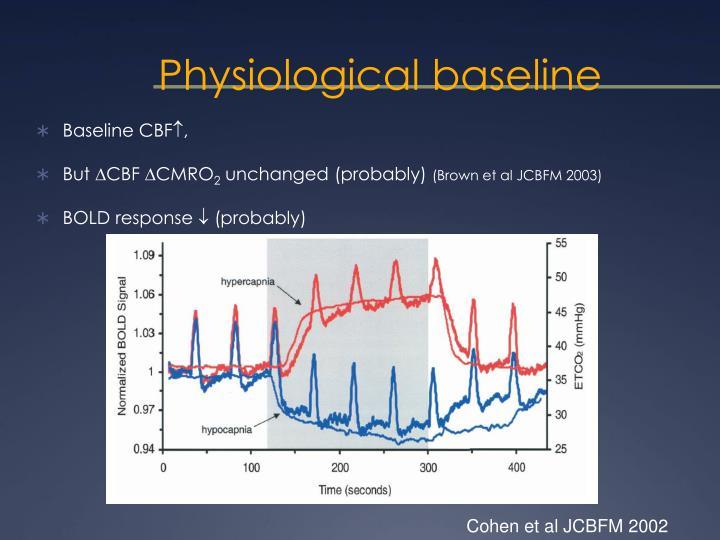 Physiological baseline
