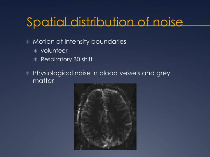Spatial distribution of noise