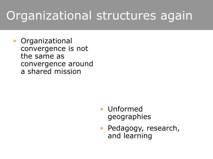 Organizational structures again