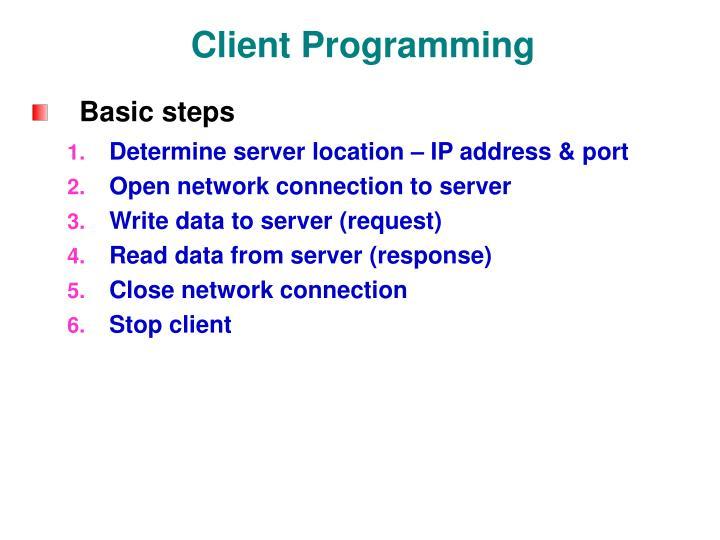 Client Programming