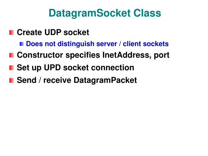 DatagramSocket Class