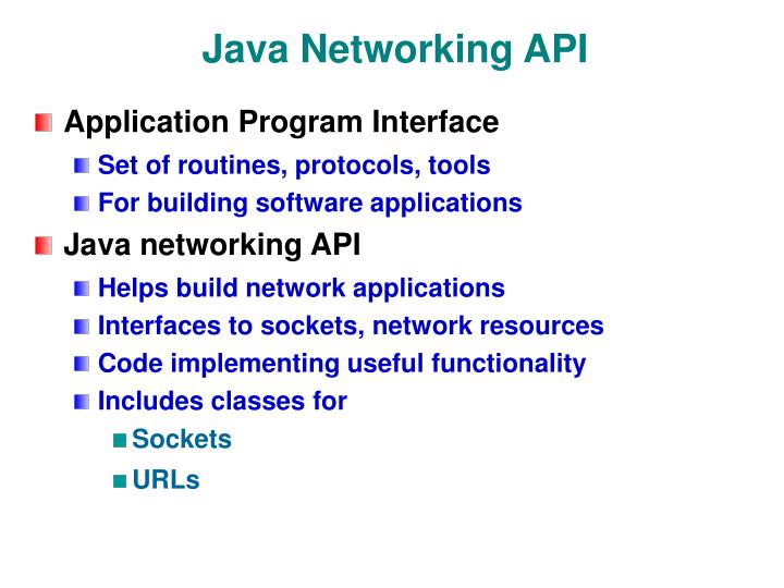 Java Networking API