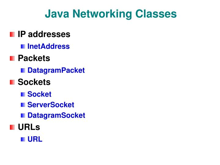 Java Networking Classes