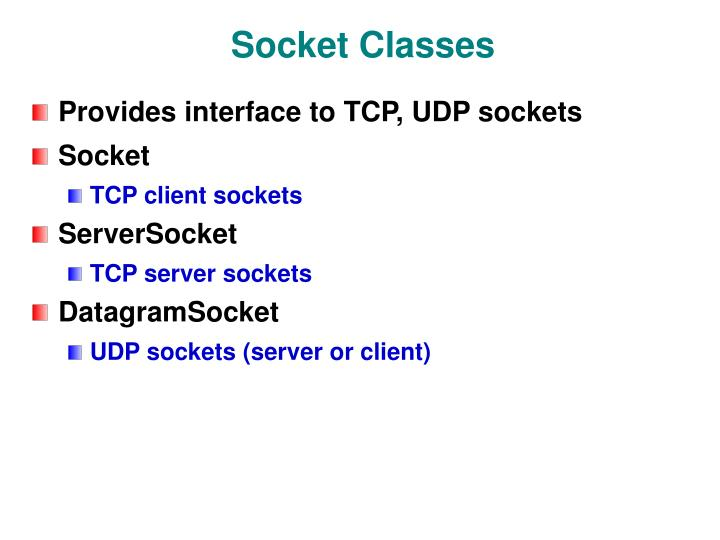 Socket Classes