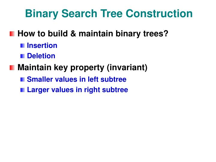 Binary Search Tree Construction