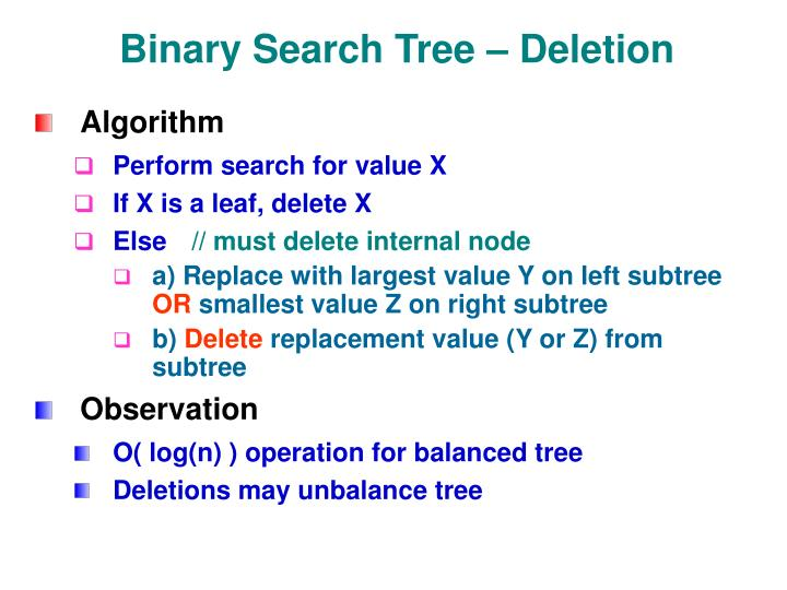 Binary Search Tree – Deletion