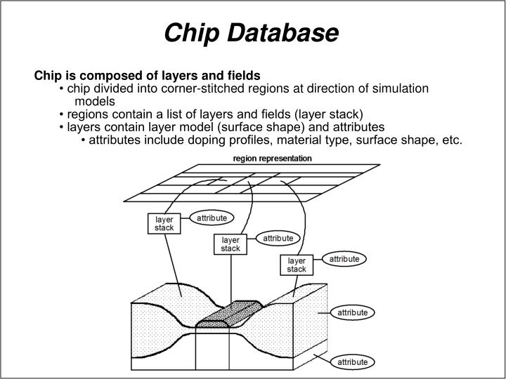 Chip is composed of layers and fields