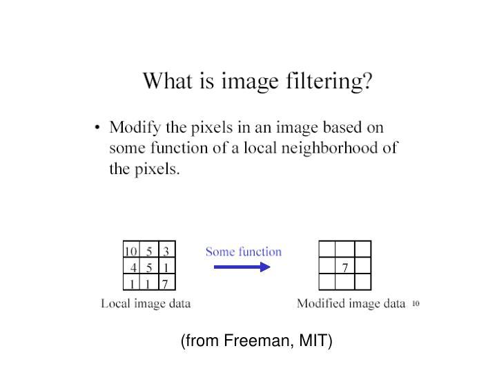 (from Freeman, MIT)