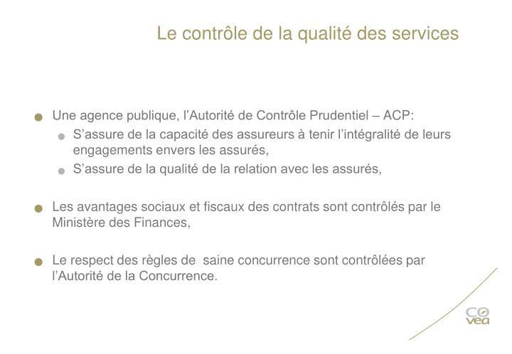 Le contrôle de la qualité des services