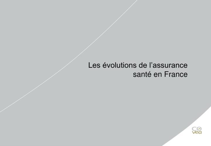 Les évolutions de l'assurance santé en France