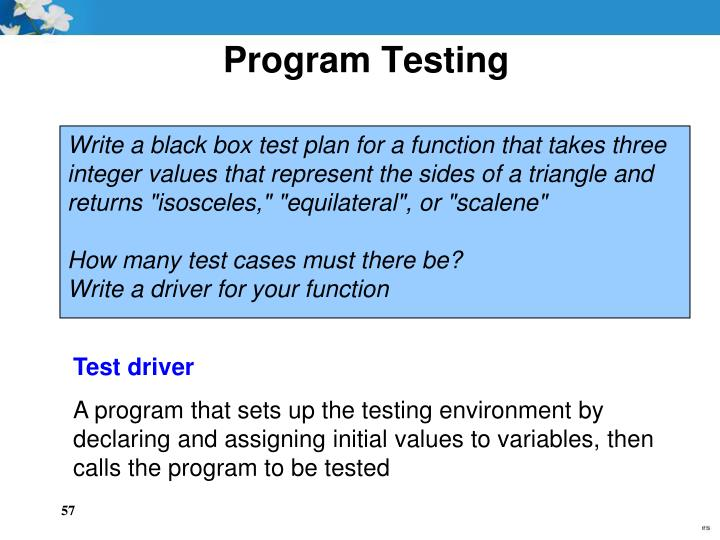 Program Testing