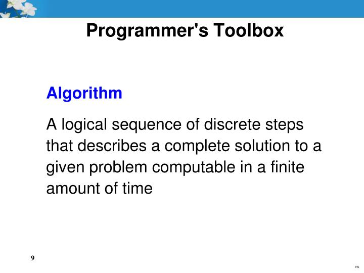 Programmer's Toolbox