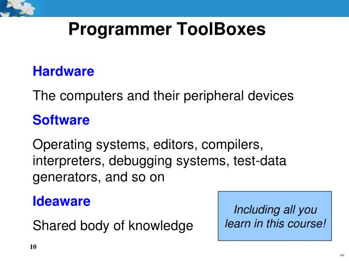 Programmer ToolBoxes
