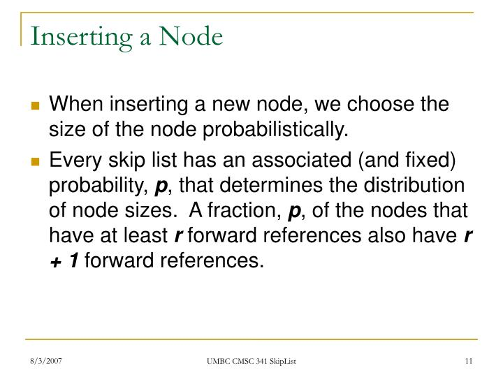 Inserting a Node