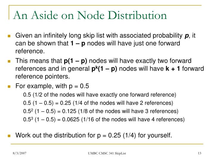 An Aside on Node Distribution