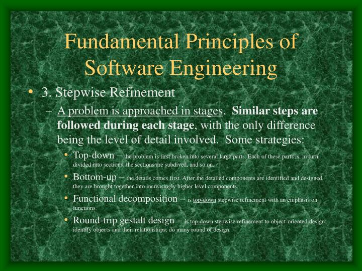Fundamental Principles of Software Engineering