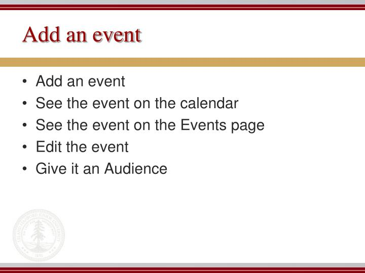 Add an event