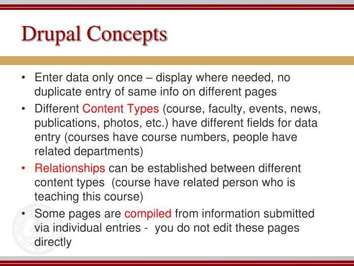 Drupal Concepts