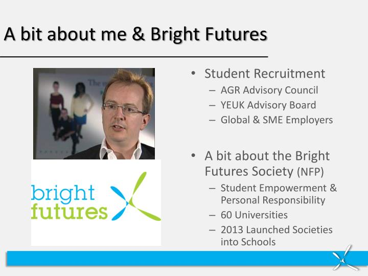 A bit about me bright futures