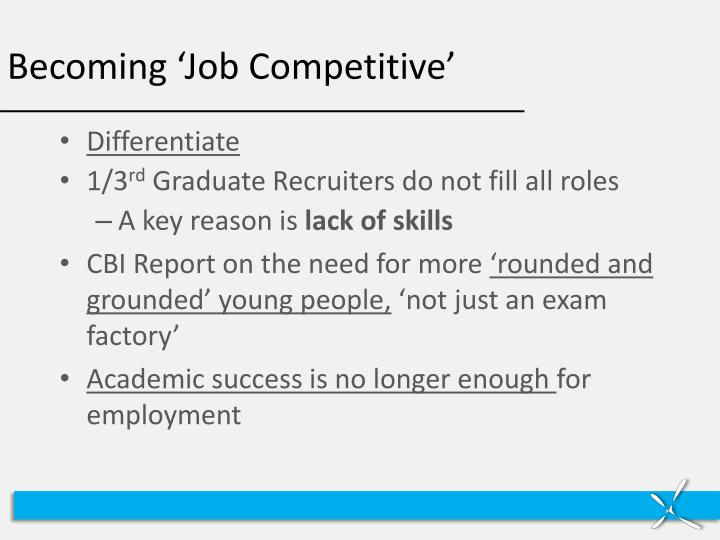 Becoming 'Job Competitive'