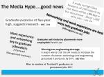 the media hype good news