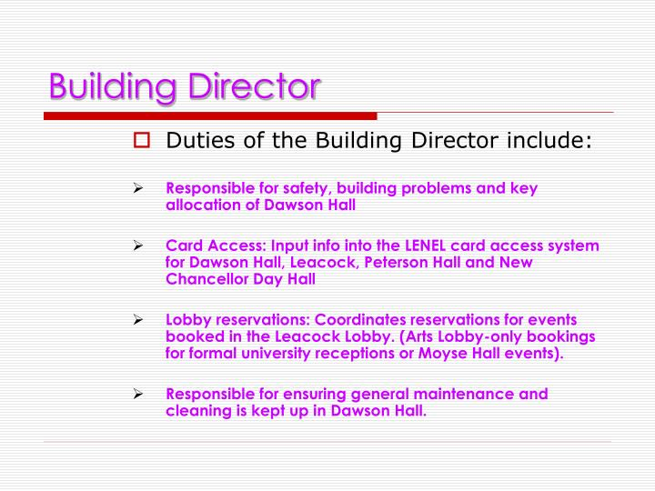 Building Director