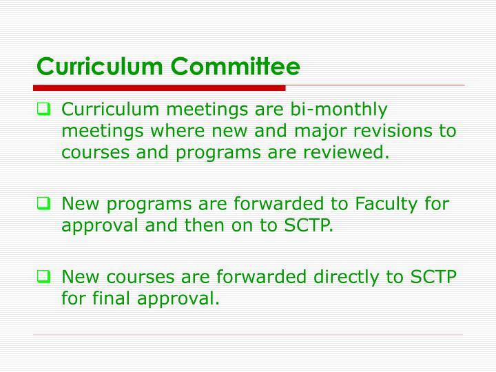 Curriculum Committee